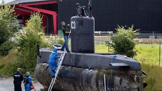 Gesunkenes Privat-U-Boot untersucht: Von schwedischer Journalistin fehlt weiterhin jede Spur
