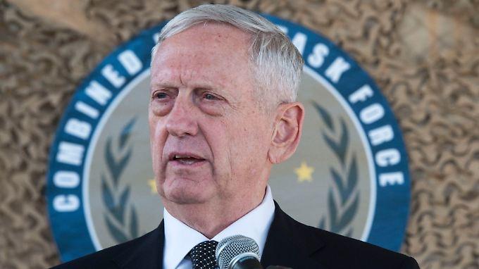 Erwähnt ganz beiläufig die Militärmacht der USA: Verteidigungsminister Mattis.