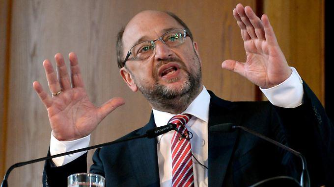 Der SPD-Kanzlerkandidat Martin Schulz skizziert in Berlin seine Pläne zur Integrationspolitik.