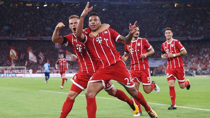 Corentin Tolisso erzielte in seinem ersten Bundesliga-Spiel das 2:0 für die Münchner.