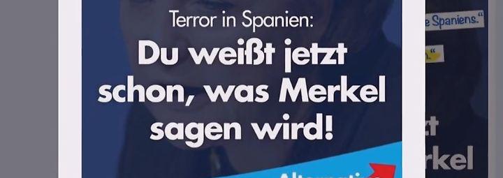 AfD frohlockt, leise Töne bei CDU und SPD: Terror in Spanien befeuert Debatte um Innere Sicherheit