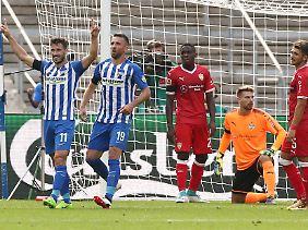 Hertha-Held: Matthew Leckie traf beim Ligadebüt für Berlin doppelt.