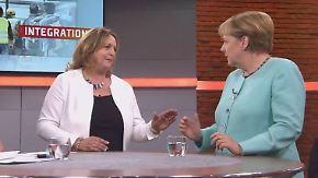 Townhall-Meeting in voller Länge: An einem Tisch mit Angela Merkel