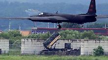 Auch diese amerikanische U-2 Dragon Lady ist Teil des Manövers.