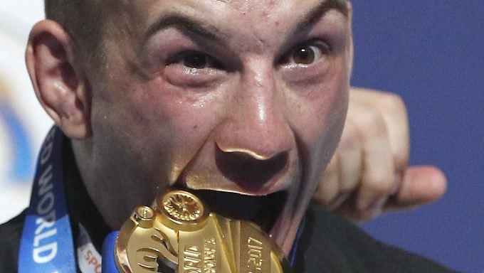 So sieht ein deutscher Ringer-Weltmeister aus: Frank Stäbler.