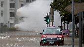 Südküste Chinas betroffen: Taifun verursacht Chaos in Hongkong