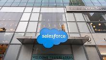 Dr Börsen-Tag: Bei SAP-Rivalen Salesforce schnellt der Umsatz hoch