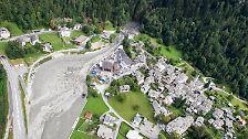 Millionen Kubikmeter Schlamm: Felssturz erschüttert Schweizer Dorf