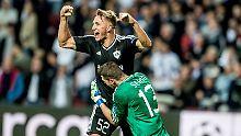 Jubel, Tränen und Überraschung: Der FK Qarabag Agdam ist in die Gruppenphase der Champions League eingezogen.