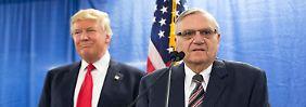 Unterstützung für Joe Arpaio: Trump fragte nach Verfahrenseinstellung