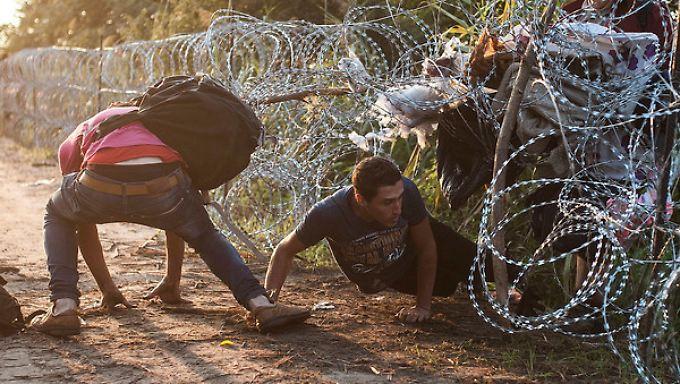 Mit einem Zaun an der serbischen Grenze hat Ungarn die Balkanroute geschlossen.