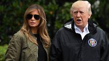 """Modisch ins Flutchaos: Trump erntet Spott für """"Sturm-Stilettos"""""""
