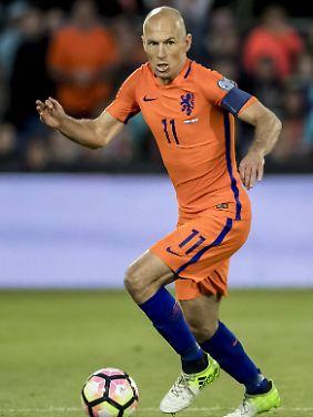 Stets positiv, wie er sagt: Arjen Robben.
