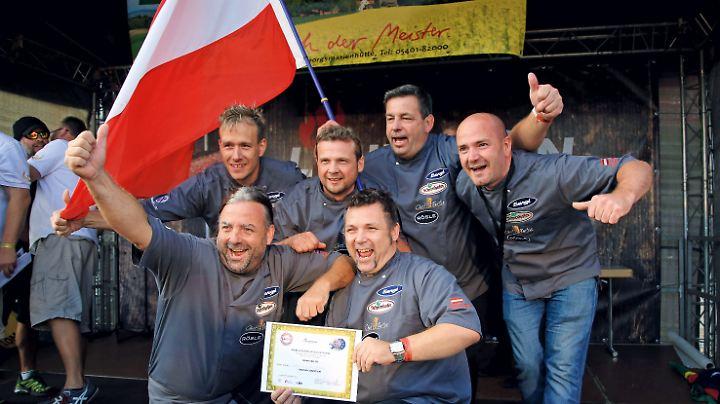 Grilleuropameister 2016: v.l.n.r. Thomas Ellwanger, Christian Gaspar, Wilfried Lind, Martin Börst, Alexander Gollenz, Christoph Gollenz.