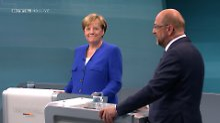 "Liveticker zum TV-Duell: +++ 21:52 Zum Abschied wünscht Merkel ""einen guten Abend"" +++"