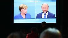 Unentschlossene Wähler konnten sich beim Duell über die zwei aussichtsreichsten Kandidaten informieren.