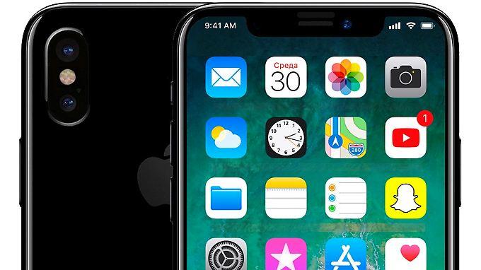 So sieht das iPhone X alias iPhone 8auf einem Bild von Leaker Benjamin Geskin aus.