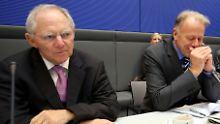 Wolfgang Schäuble (l.) und Jürgen Trittin bei einer Bundestagssitzung im Jahr 2012