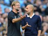 Und, wie sieht's bei Euch aus? Jürgen Klopp und Josep Guardiola.