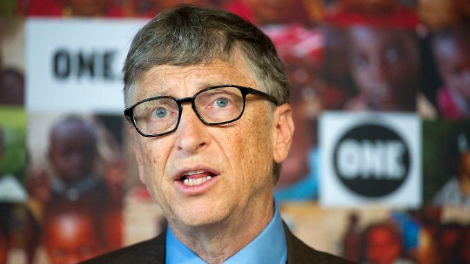 Bill Gates engagiert sich mit seiner Stiftung unter anderem für den Kampf gegen HIV.