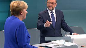 Zentrale Fragen nicht diskutiert: Schulz fordert Merkel zu zweitem Duell heraus