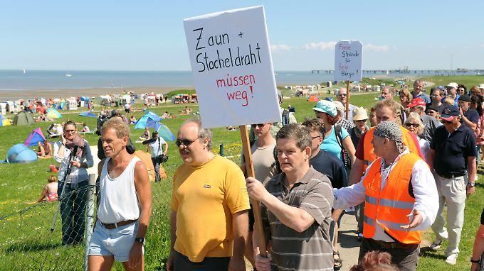 Der Streit um Kurbeiträge und Zäune läuft in Wangerland am Jadebusen schon seit Jahren (Archivbild).