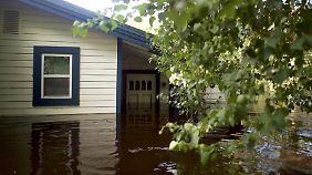 "Land unter in Jacksonville in Florida nach Hurrikan ""Irma""."