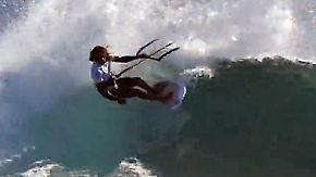 Perfekte Bedingungen im Paradies: Auf Mauritius zeigen die besten Kitesurfer ihr Können