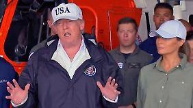 """Verheerende Folgen von Hurrikan """"Irma"""": Trump macht sich in Florida persönlich ein Bild von der Lage"""