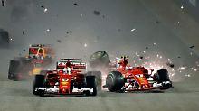 Ferrari-K.-o. in Runde 1: Vettel erlebt Crash-Fiasko in Singapur