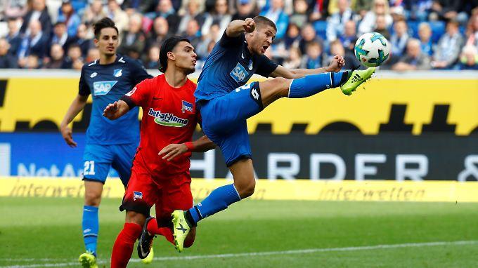Hoffenheims Kramaric (r.) bereitete das zwischenzeitlich 1:0 durch Wagner vor.