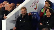"""""""Wenn du solche Tore kassierst, macht es das Leben richtig schwer"""": Jürgen Klopp in Leicester."""