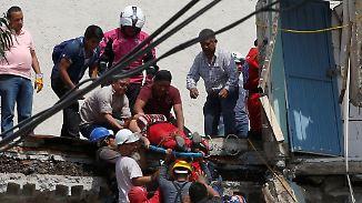 Welle der Solidarität: Mexikaner graben mit bloßen Händen nach Verschütteten