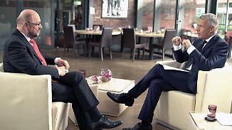 """Martin Schulz im Interview: """"Diese anmaßende Arroganz schockiert"""""""