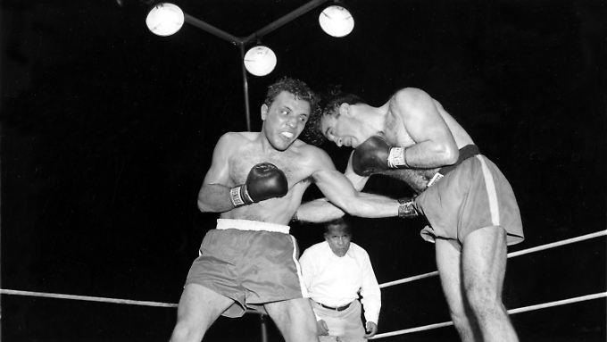 1949 krönte sich Jake Lamotta gegen den französischen Favoriten Marcel Cerdan zum Mittelgewichtschampion.