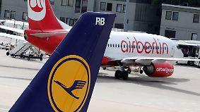 Scharfe Kritik der Konkurrenz: Lufthansa soll Großteil von Air Berlin übernehmen