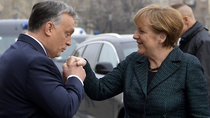 So nah und doch so fern - Orban und Merkel kommen beide aus dem bürgerlich-konservativen Lager.