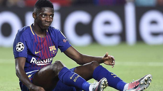 Bis zu vier Monate muss Ousmane Dembélé verletzt zuschauen - ihm bleibt noch das exorbitante Gehalt.