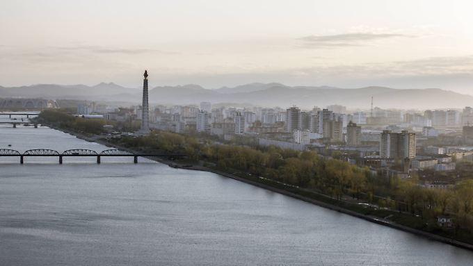 Blick auf die Hauptstadt Nordkoreas.