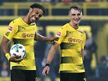 Pierre-Emerick Aubameyang und Maximilian Philipp machen Dortmund glücklich.