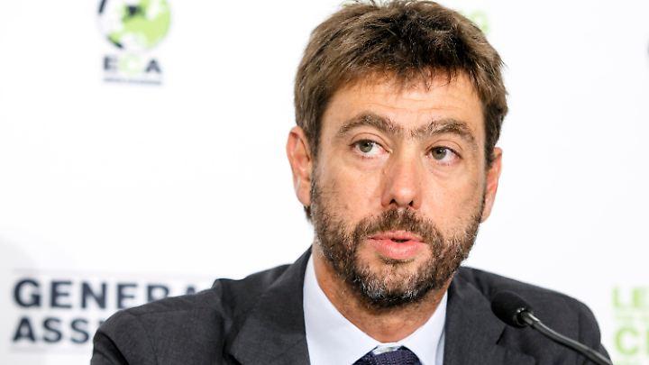 Andrea Agnelli ist Chef der Klubvereinigung ECA und Präsident von Juventus Turin.