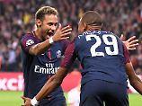 Welch'Freude: Neymar und Kylian Mbappe.