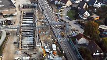 Sieben Wochen Bauarbeiten: Rheintalbahn weist immense Schäden auf