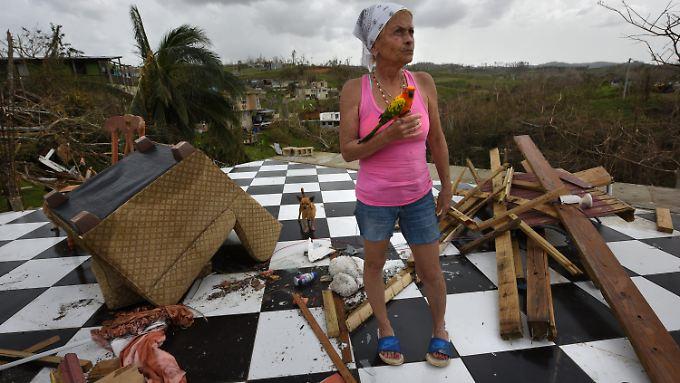 """Hurrikan """"Maria"""" zerstörte Fabriken und Häuser auf Puerto Rico - so wie das von Irma Maldano."""