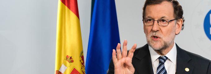 """""""Es hat kein Referendum gegeben"""": Spaniens Ministerpräsident Mariano Rajoy."""