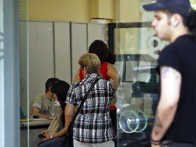 In einem griechischen Arbeitsamt. In Griechenland verzeichnet die höchste Arbeitslosenquote im Euroraum.