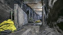 Durch diesen Tunnel, der zwischen einem Privathaus und der Bank von Brasilien errichtet wurde, wollten die Täter rund 270 Millionen Euro erbeuten.