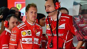 Vettel könnte die Hilfe der Red Bull gebrauchen - doch ihm droht selbst Gefahr.