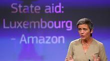 Luxemburg hat Amazon illegale Steuerrabatte gewährt, sagt EU-Kommissarin Margrethe Vestager.