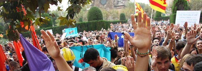 """Befürworter eines unabhängigen Kataloniens: """"Wir waren immer eine friedliche Bewegung."""""""